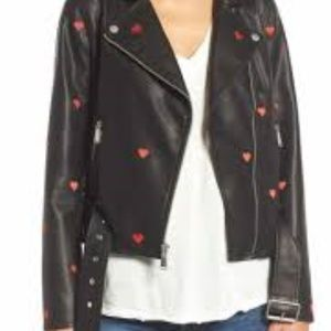 NWT~ BCBGeneration ~ Moto Jacket w/ Hearts